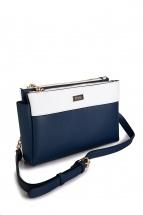 b91b41e9ab8deb Женская сумка синего цвета. Внешняя отделка: искусственная кожа. Внутреняя  отделка: текстиль.